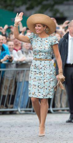 Queen Máxima, August 30, 2014 in Fabienne Delvigne   Royal Hats