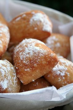 Beignets, yum. I want some of these right now!