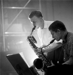Gerry Mulligan & Zoot Simms, NYC, New York, 1955  © HERMAN LEONARD