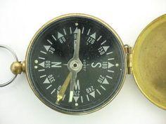 Brass Pocket Compass.