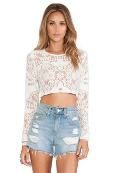 Tularosa Cannon Crop Top in White