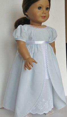 Regency Ballgown for American Girl Caroline Abbott by MyAuntGinny