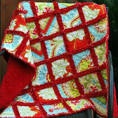 rag quilt - LOVE the red minky