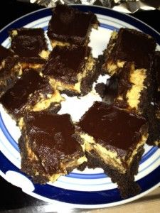 Chocolate Peanut butter Layered Brownies