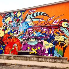 Bicicleta Sem Freio paint a new mural for Memorie Urbane in Gaeta, Italy