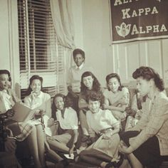 Alpha Kappa Alpha Sorority Meeting #Greek #Sorority #AKA #AlphaKappaAlpha #BlackAndWhite