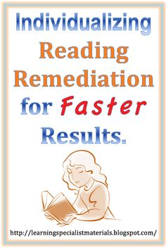 Come learn about how to individualize reading remediation for faster results.
