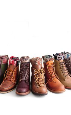 Rugged boots. Perfect with skinny jeans! Women's fall winter fashion clothing footwear shoes