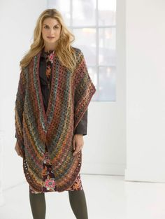 Lion Brand® Amazing® Cozy Eyelet Shawl #knit #pattern