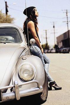 Silver VW bug