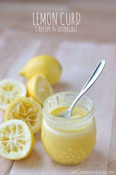 # Homemade Lemon Curd Recipe: Ingredients      ½ cup sugar     Zest of 3 lemons     ½ cup fresh lemon juice     pinch of salt     4 egg yolks     4 Tbsp. room temperature butter