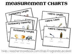 math, charts, free measur, teacher notebook, measur chart