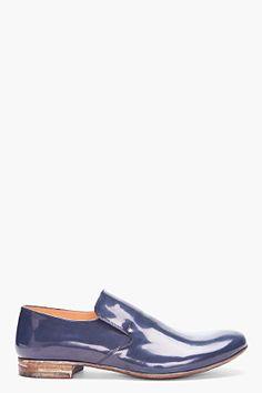MAISON MARTIN MARGIELA Dark Blue Patent Leather Shoes