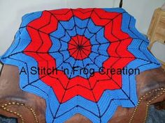 Stitch 'n Frog: Superhero Dream Catcher Afghan, especially for Spiderman Fans