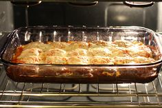 Easy Baked Ravioli. on a side note I wish my oven was that clean.