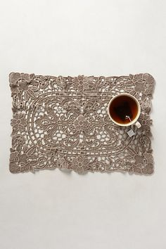 Lacy Cutwork Placemats #anthropologie