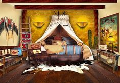Real Life Inspiration Native American Inspired Bedroom