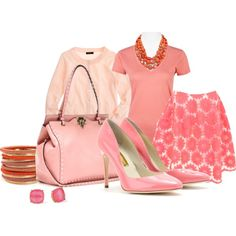 """Peachy Pink"" by arbbednnyl on Polyvore"