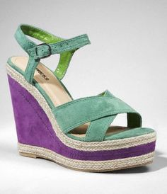 Color-Blocked Wedge Sandals $49.90