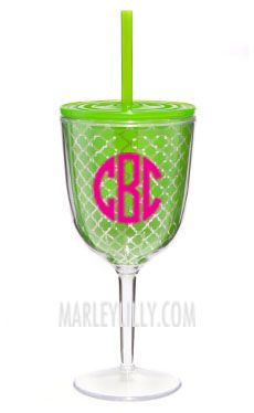 monogrammed wine sippy cup! so we know whose is whose! marleylilly.com