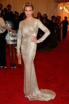 Cameron Diaz at the Met Gala 2012 #style #redcarpet #harpersbazaar #fashion #partysnaps #glamour