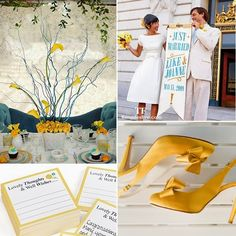 Things Festive Weddings & Events: Teal & Yellow Wedding  #wedding #yellow #teal #spring