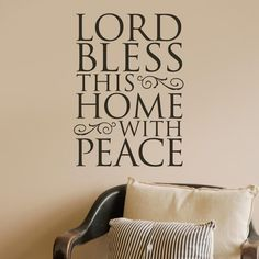 Lord Bless This Home with Peace - Vinyl Wall Art