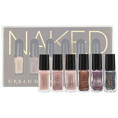 Go naked from hand to toe. URBAN DECAY Naked Nail Set #Sephora #SephoraHotNow