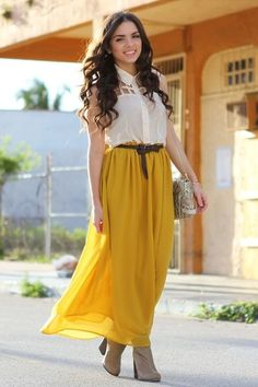 yellow maxi boutiqu, maxi dresses, ankle boots, fashion outfits, bag, blous, long skirts, summer outfits, maxi skirts