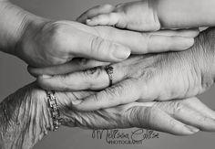 Melissa Calise Photography (Photoshoot Ideas Family Generations Great Grandma Grandma Daughter Baby Girl)