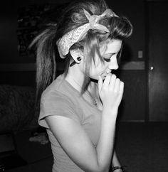 tumblr girls hairstyles, bandana hair dos, plug, indie girl hairstyles, cute hairstyles with bandanas, beauti, bandana hair styles, altern girl, girl bandana hair