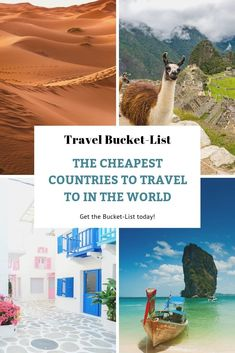 Get the FREE Travel Bucket-List with the Cheapest Places to Visit Around the World!  #bucketlist #travelbucketlist #travelhacks #affordabletravel #traveltips #travel #cheaptravel #affordableplacestotravel #cheapestplacestotravel #traveltheworld