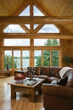 Log Home Photos love the windows