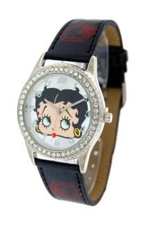 Betty Boop Womens Leather Strap Watch