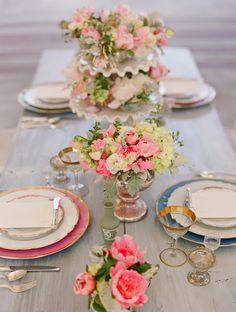 Vintage table setting inspiration