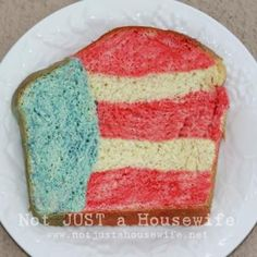 4th of July Patriotic Bread {Food}
