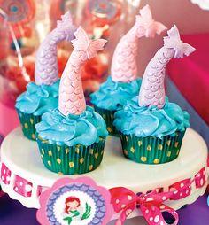 Loving mermaid tail cupcakes