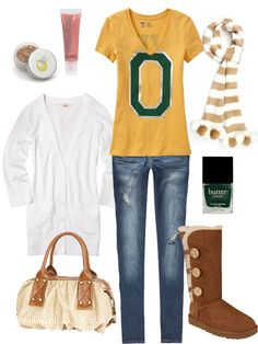 University of Oregon Inspired Outfit #GoDucks