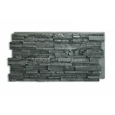 Romana Stacked Stone Panel- Charcoal