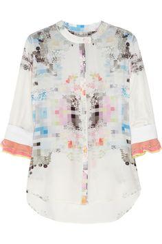PREEN  Shira printed silk blouse