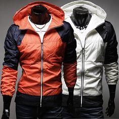 Men Windbreaker Hoodie Zip Jacket | Sneak Outfitters