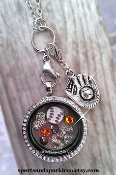 San Francisco Giants Baseball ~ Sports Team, Collegiate Floating Keepsake Glass Locket with Your Choice of Charms, Hearts, Dangles and More. Personalized your way.  www.facebook.com/sportsandsparkle