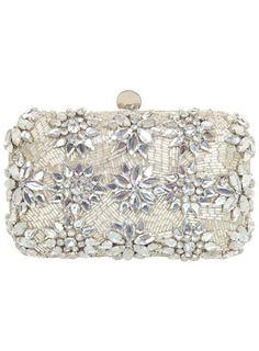 Silver Embellished Clutch