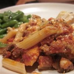 dinner, bake ziti, baked ziti, green peppers, pasta, ground turkey, sausag recip, basil, sausage recipes