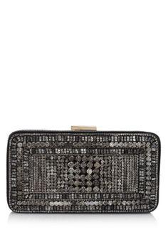 Embellished Leather Evening Bag on Reebonzvintage.com