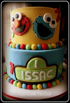Sesame Street First birthday cake