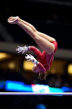 Macy Toronjo gymnast women's gymnastics, moved from @Kythoni Gymnastics: Gymnasts & Meets board http://www.pinterest.com/kythoni/gymnastics-gymnasts-meets-championships/ m.3.48 uneven bars #KyFun