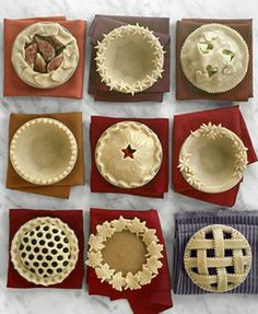 Pie Crust ideas....can't wait to make some of these!