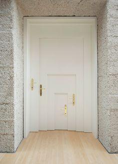 A door within a door within a ...by Armin Blasbichler Studio. Photo by Ingrid Heis. #Architecture #Door #Armin_Blasbichler #mymodernmet