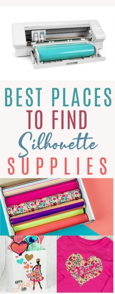 We've found some  great prices on Silhouette supplies and thought we'd pass these ideas on to  you. So today, we're sharing where to find Silhouette supplies on a budget. #silhouette #silhouettecameo #silhouettecameo4 #diecutting  #diecuttingmachine #silhouettemachine #diysilhouette #silhouetteideas #cutfiles  #svgfiles #diecutfiles #diysilhouetteprojects #silhouetteprojects #silhouettecraftideas  #diysilhouetteideas